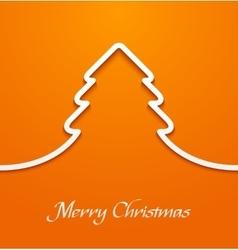 Orange abstract christmas tree applique vector image vector image