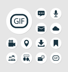 Social icons set collection of partnership gif vector