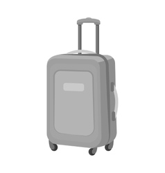 Travel luggage icon in monochrome style isolated vector image vector image
