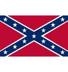 Confederate rebel flag correct proportions colors vector