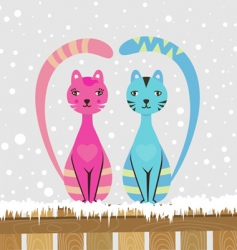 couple cats vector image