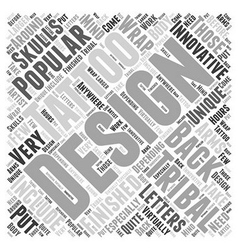 Innovative tribal designs word cloud concept vector