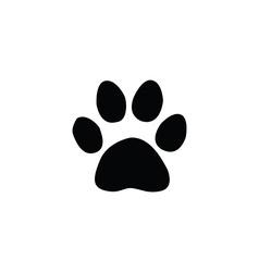 jaguar footprint vector image vector image