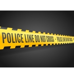 Police Line with Text Not Cross vector image vector image