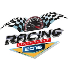 Racing Championship logo event vector image vector image
