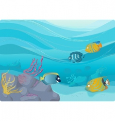 underwater illustration vector image vector image
