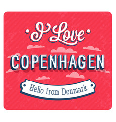 vintage greeting card from copenhagen vector image vector image