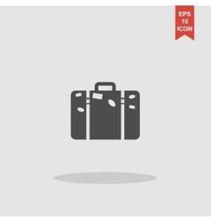 bag icon Flat design style vector image vector image