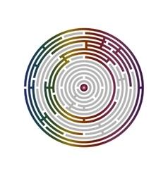 Circular labyrinth abstract logic puzzle vector image