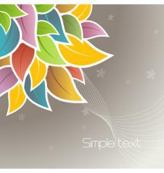 floral corner design vector image