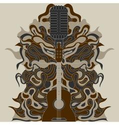 guitar zentangle vector image