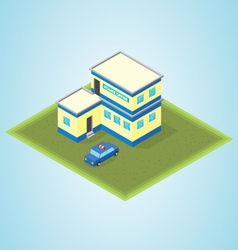 Isometric police station vector image vector image