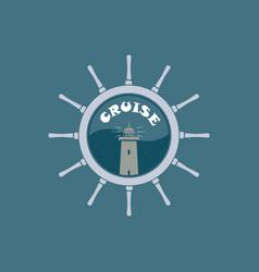 logo sea cruise vector image
