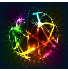 Neon shining sphere vector image