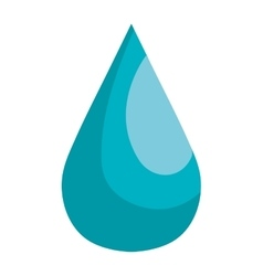 Blue natural drop water theme design vector image vector image