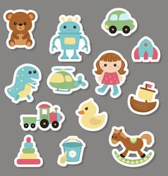 collection of toys icons collection of toys icons vector image