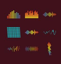 color logo equalizer vector image