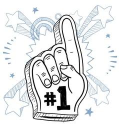 doodle pop foam hand vector image vector image