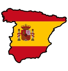 Map in colors of Spain vector image vector image