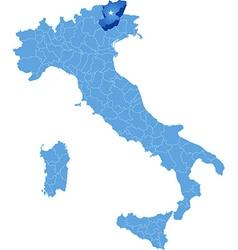Map of Italy Belluno vector image