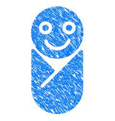newborn grunge icon vector image vector image