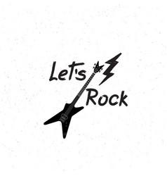 rock music banner musical sign background lets vector image