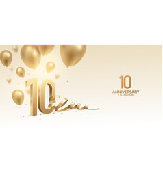 10th anniversary celebration background vector