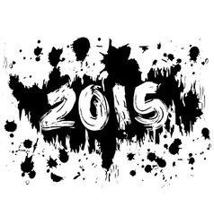 2015 ink splatters vector image
