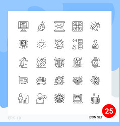 25 thematic lines and editable symbols ludo vector