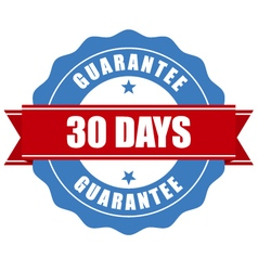 30 days guarantee stamp - warranty sign vector image