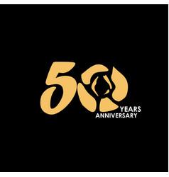 50 year anniversary flower template design vector