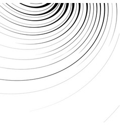 Abstract geometric with radial swirling spirally vector