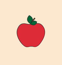 apple icon autumn fruit harvest concept vector image