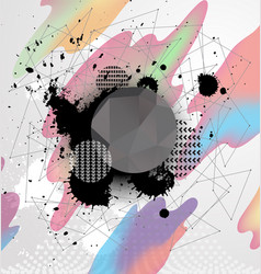 art background with geometric shape vector image