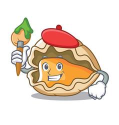 Artist oyster character cartoon style vector