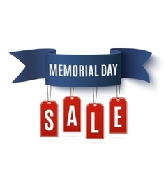 Big Memorial Day sale background template vector