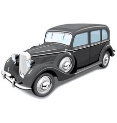 Black retro car vector