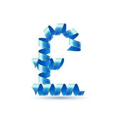 British pound sign made of spiral ribbon vector