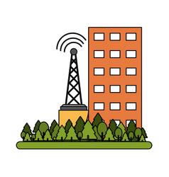 Building and telecommunication antenna vector