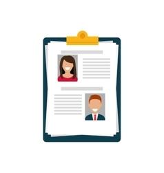 Business curriculum vitae vector