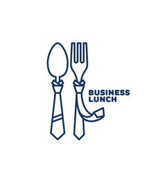 Business lunch logo vector