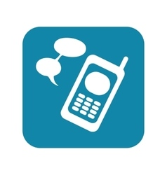 Cellphone with bubble text vector