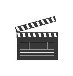 Clapboard cinema theater vector
