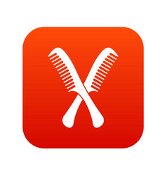 Combs icon digital red vector