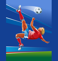 Concept of soccer player abstrackt background vector