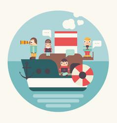 concept teamwork vector image