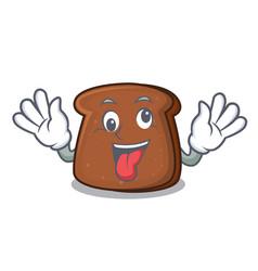 Crazy brown bread mascot cartoon vector