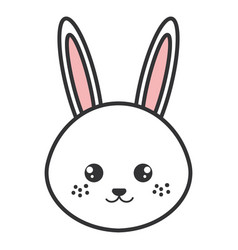 cute and tender rabbit head character vector image