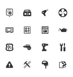 Electronics repair icons set vector