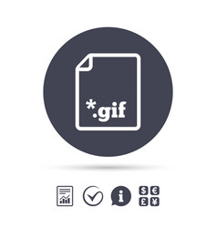 File gif sign icon download image file vector